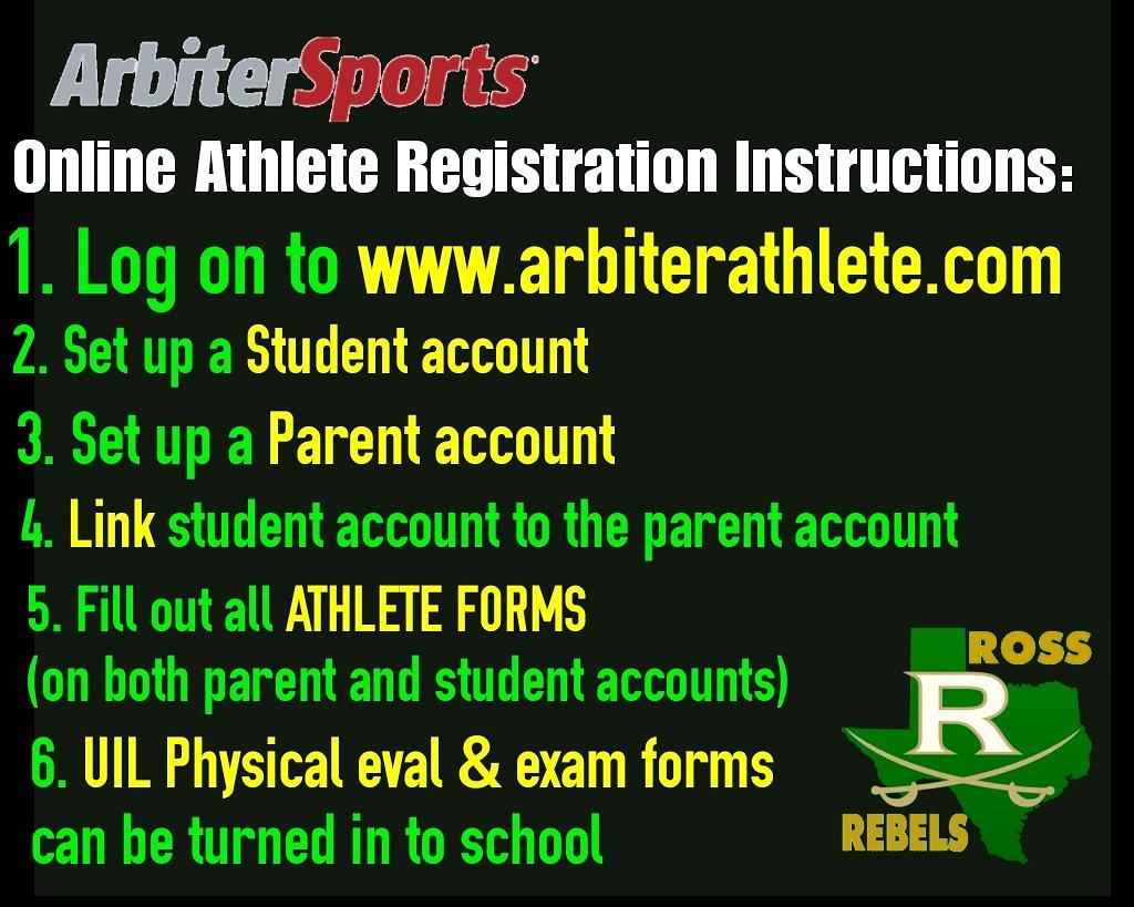 "sports physical form episd  Ross Rebels Athletics on Twitter: ""Register your EPISD ..."
