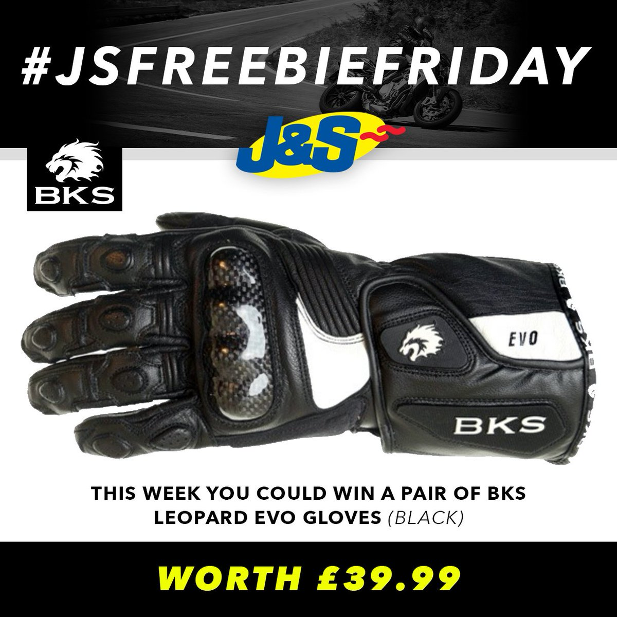 #JSFREEBIEFRIDAY Retweet this post and follow us for a chance to win a pair of BKS Leopard Evo Gloves worth £39.99. Ends Tues August 7th. You can also enter by signing up to our newsletter here:  Happy Friday everyone!