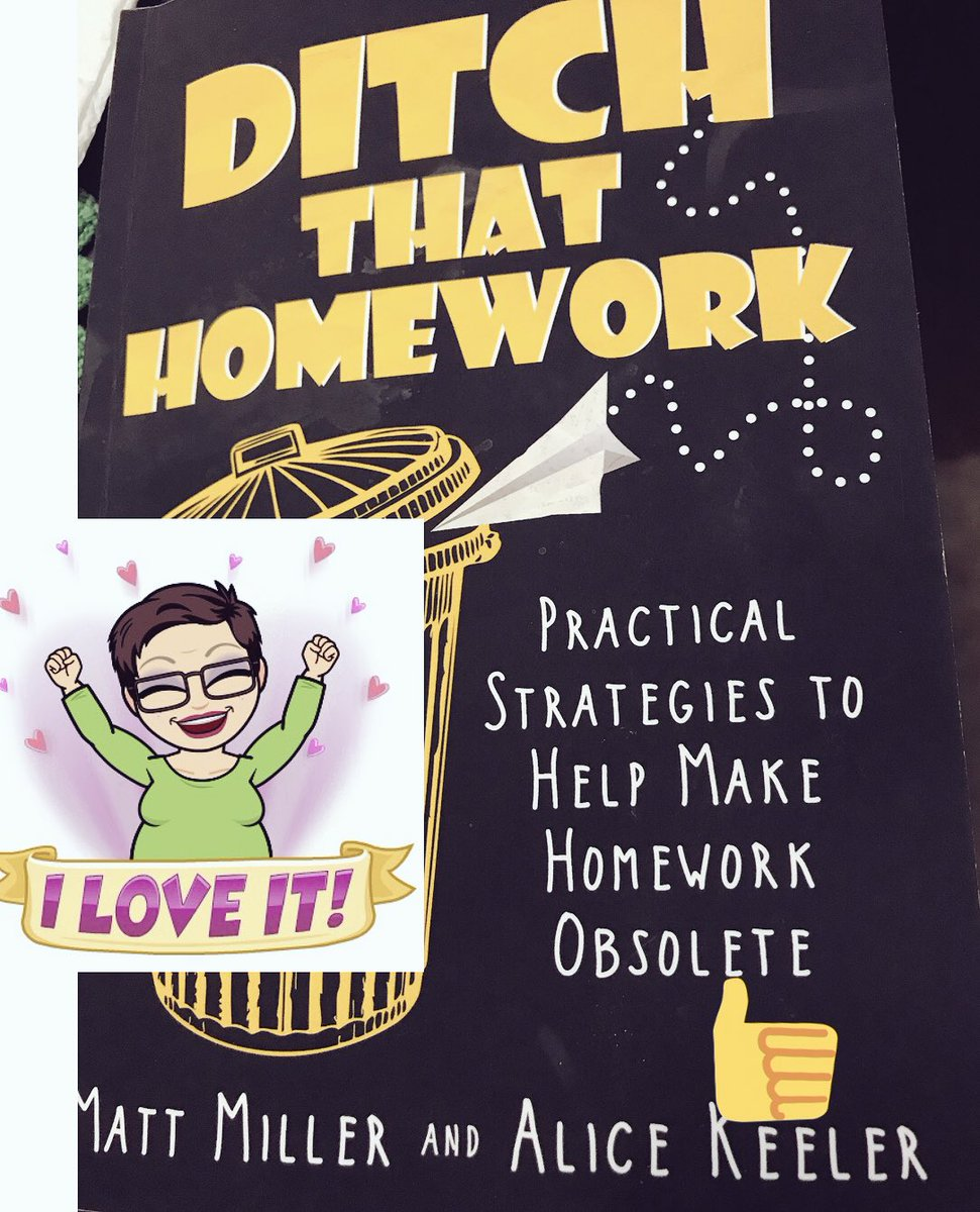 Great book #ditchthathomework @dbc_inc @alicekeeler @jmattmiller
