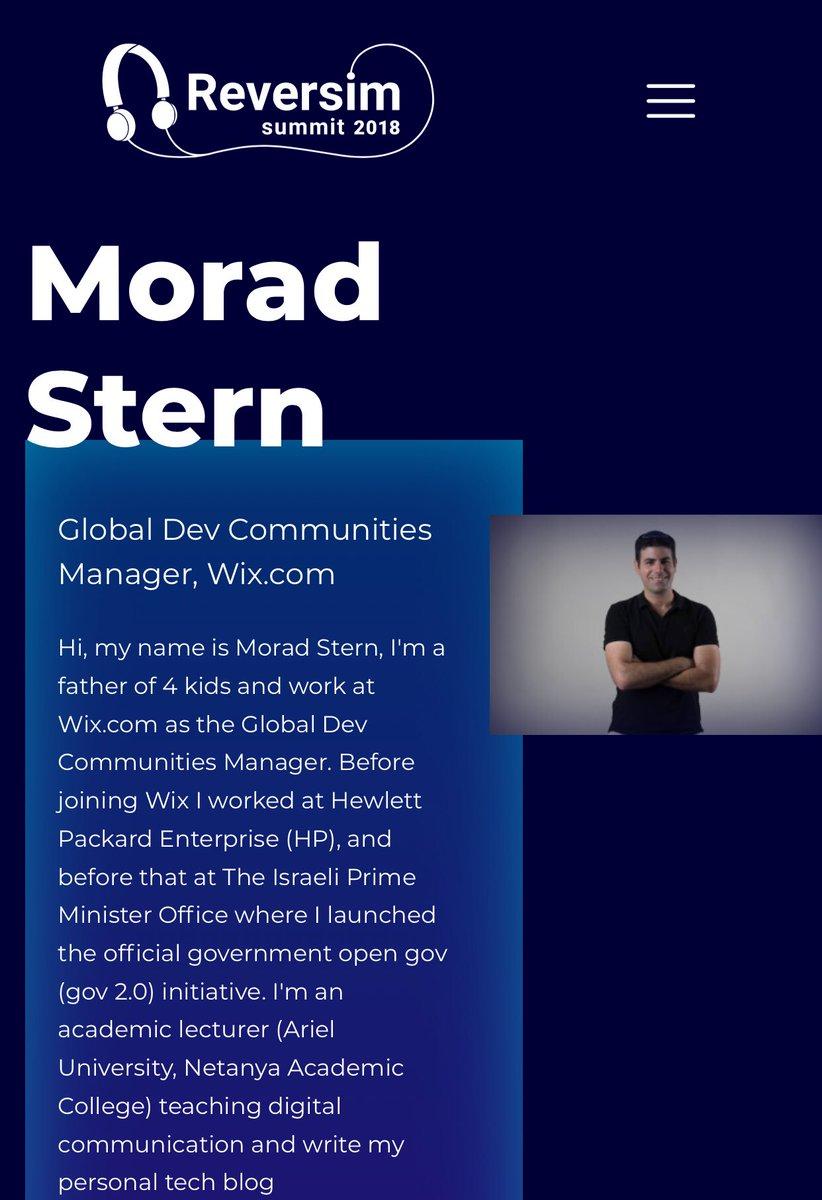 Morad Stern on Twitter: