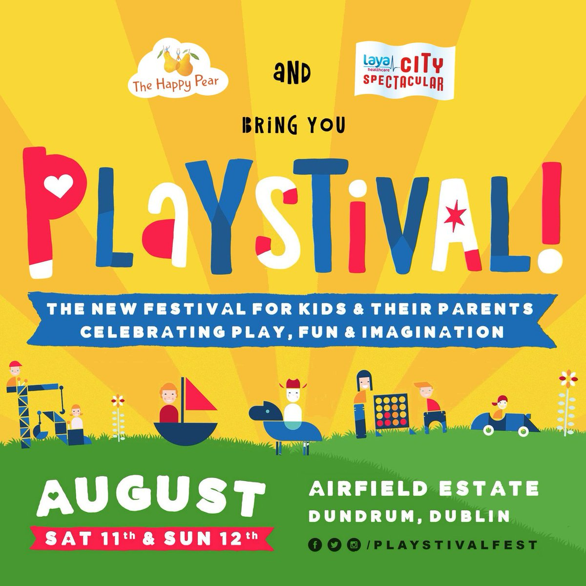 We have #free #family passes to #win for @playstivalfest 11- 12 August @AirfieldEstate! #Playstival, #Ireland's #new #summer #festival for #children showcases imaginative & #playpositive #games incl. #French company #Festijeux Simply #Like & #RETWEEET #RT! http://playstival.ie