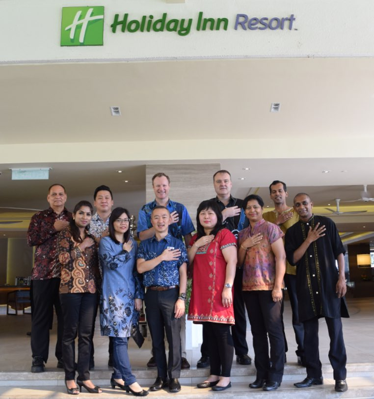 With warm greetings from Holiday Inn Resort Penang, we truly look forward to seeing you soon!  #lifeatIHG #TrueHospitality #IHG #HotelJobs #HotelCareers #Penang #BatuFerringhi #PenangMalaysia #Malaysia #HolidayInnResortPenang #HolidayInnResort #BatikFriday https://t.co/iuwxvVb3WF