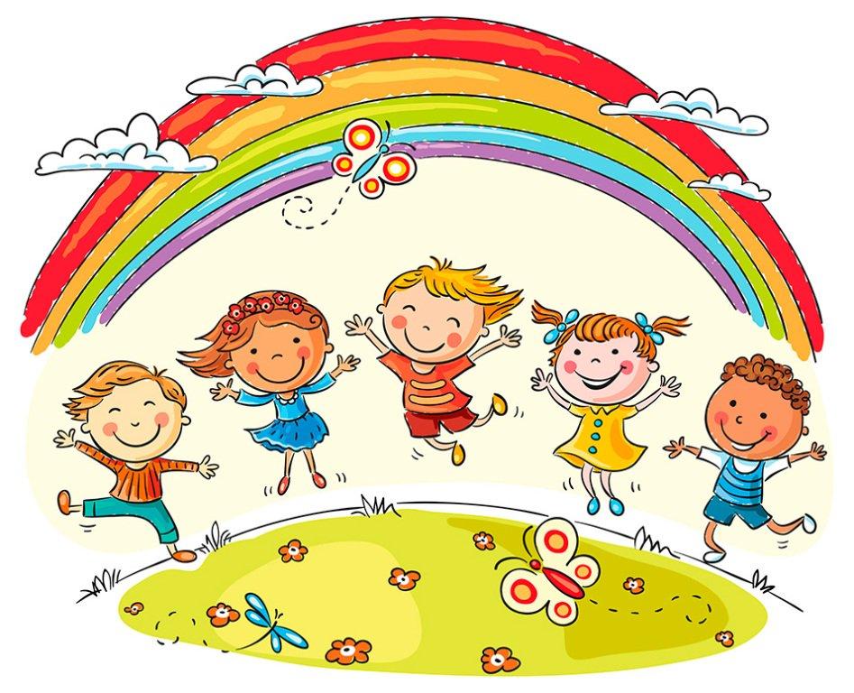 Картинки веселые детишки нарисованные