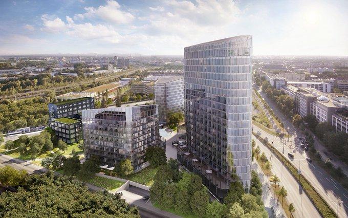 Tomorrow starts today - die #BavariaTowers stehen kurz vor ihrer Fertigstellung. Für uns ein Grund, die spannendste Baustelle in #Muenchen zu besuchen und den Projektleiter am höchsten Punkt des Ensembles zu interviewen. #office #architecture #Bavaria  t.co/qcuLhpYyg7