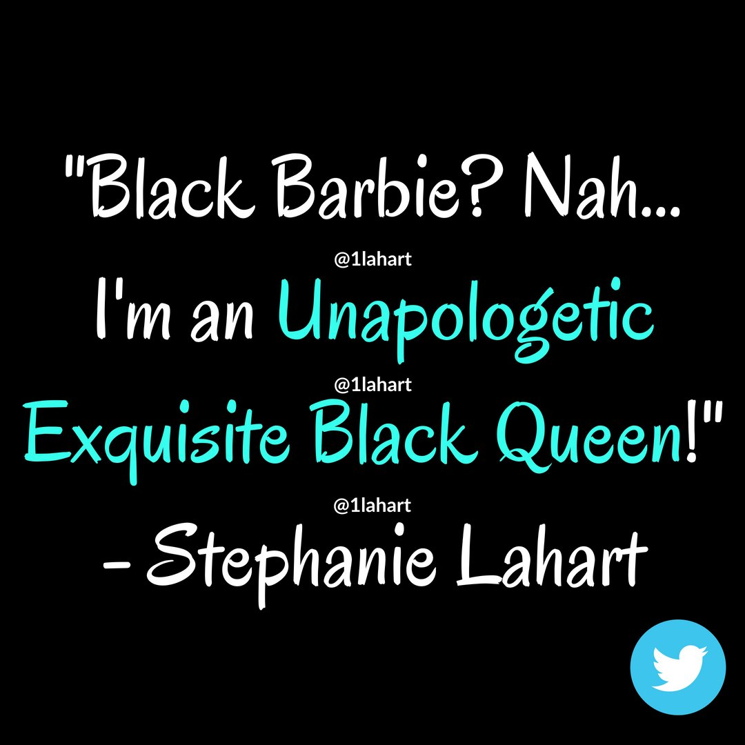 Stephanie Lahart On Twitter Black Barbie Exquisite Black Queen