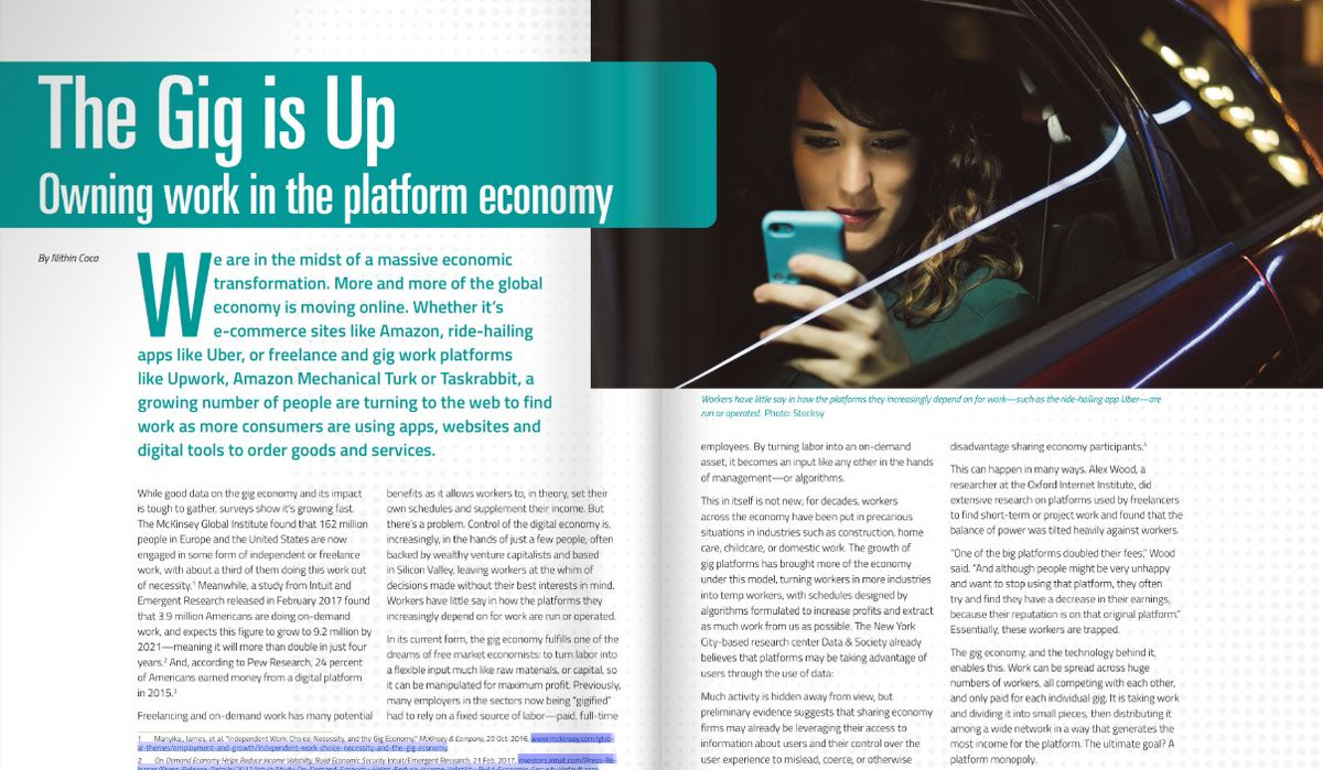 #FridayReads : Are #coops the future of work? How digital platform #coops can help the #gigeconomy become an #inclusive economy. Read more in @NCBACLUSA #COOPJournal @excinit @BrookingsMetro @livingcities @jsirons @DeborahCWright2   http:// online.fliphtml5.com/caqv/vqrx/#p=16  &nbsp;  <br>http://pic.twitter.com/Py8zqf4uxH