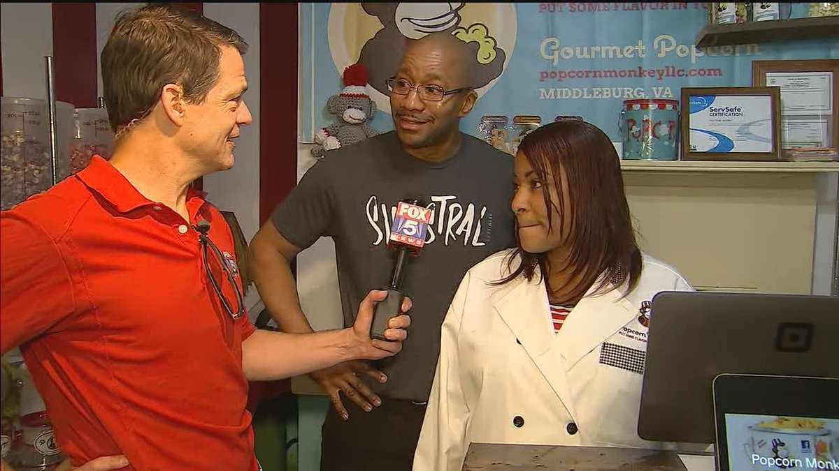 """FOX 5 DC on Twitter: """"FUN IN MIDDLEBURG AT THE POPCORN MONKEY! If you are  out-and-about during our FOX 5 ZIP TRIP fun and take a photo - post it  online ..."""