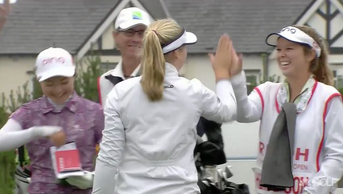 Canadian Brooke Henderson drains a hole-in-one at the Women's British Open