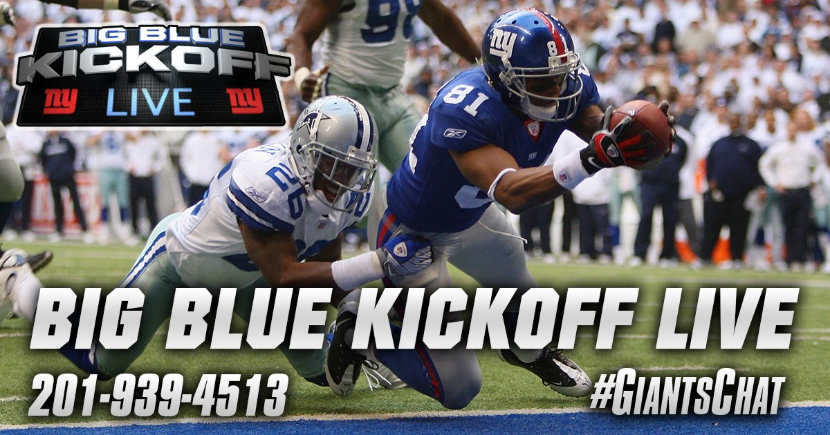 NYGiants legend  AmaniAToomer is hosting Big Blue Kickoff Live today at  1PM ET on http   Giants.com BigBlueKickoff and Giants App! ... 9e41a4b83