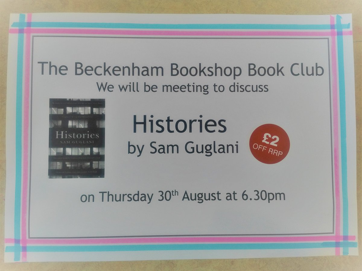 Beckenham Bookshop Beckenhambooks Twitter Sepatu Sneakers Wanita D6010 White Bookclub Choice For August Histories Meeting Thursday 30th At 630 In The If You Care To Joinuspic Giwoqlo10m