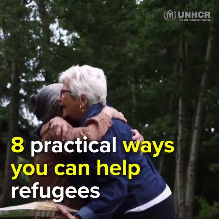 Here are 8 practical ways to stand #WithRefugees: