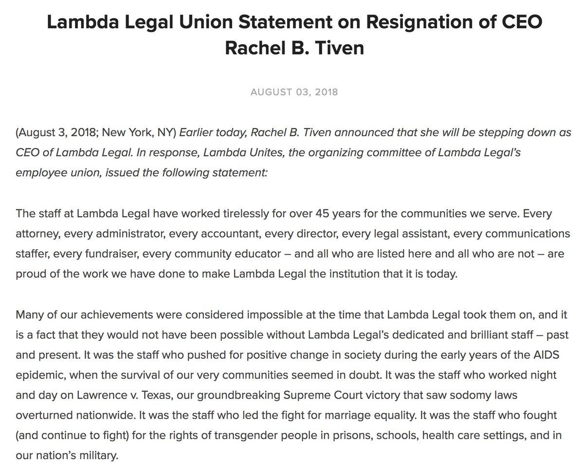 Lambda Legal Ranked 1 Among LGBT Organizations