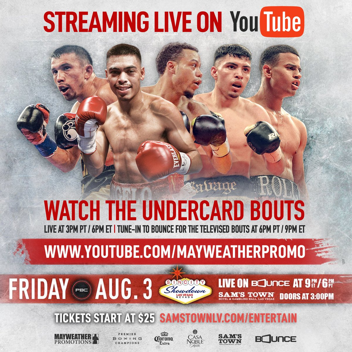 test Twitter Media - Not in Vegas? Visit our YouTube page @ 3pm PT/6pm ET for coverage of the undercard action! Tune into @bouncetv @ 6pm PT/9pm ET.🥊 https://t.co/wOyrX0ws8r