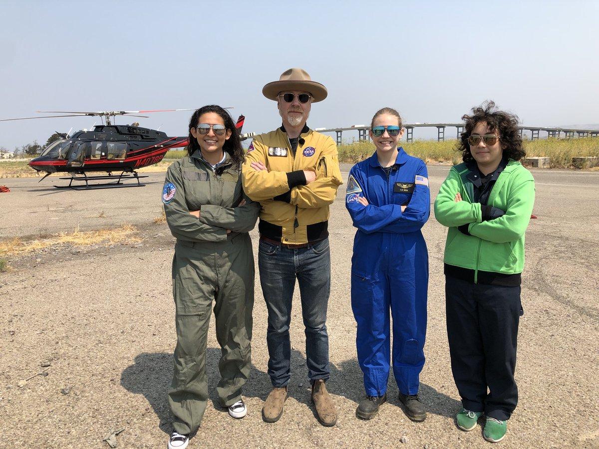 #MythBusters got a helicopter ride today! #MythBustersJr