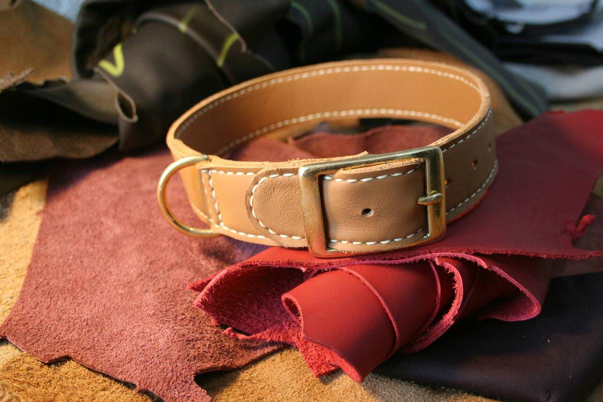 Light tan dog colar.   #leather #handmade #craft #shopindie #crafthour #tan #lethercraft #dog #collarpic.twitter.com/Aug8JTIai6