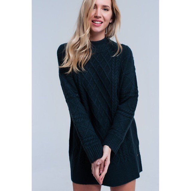 Cable knit charcoal gray sweater   #Oversized #sweater #nyc #shopnow #fashion #trendy #modernchoices