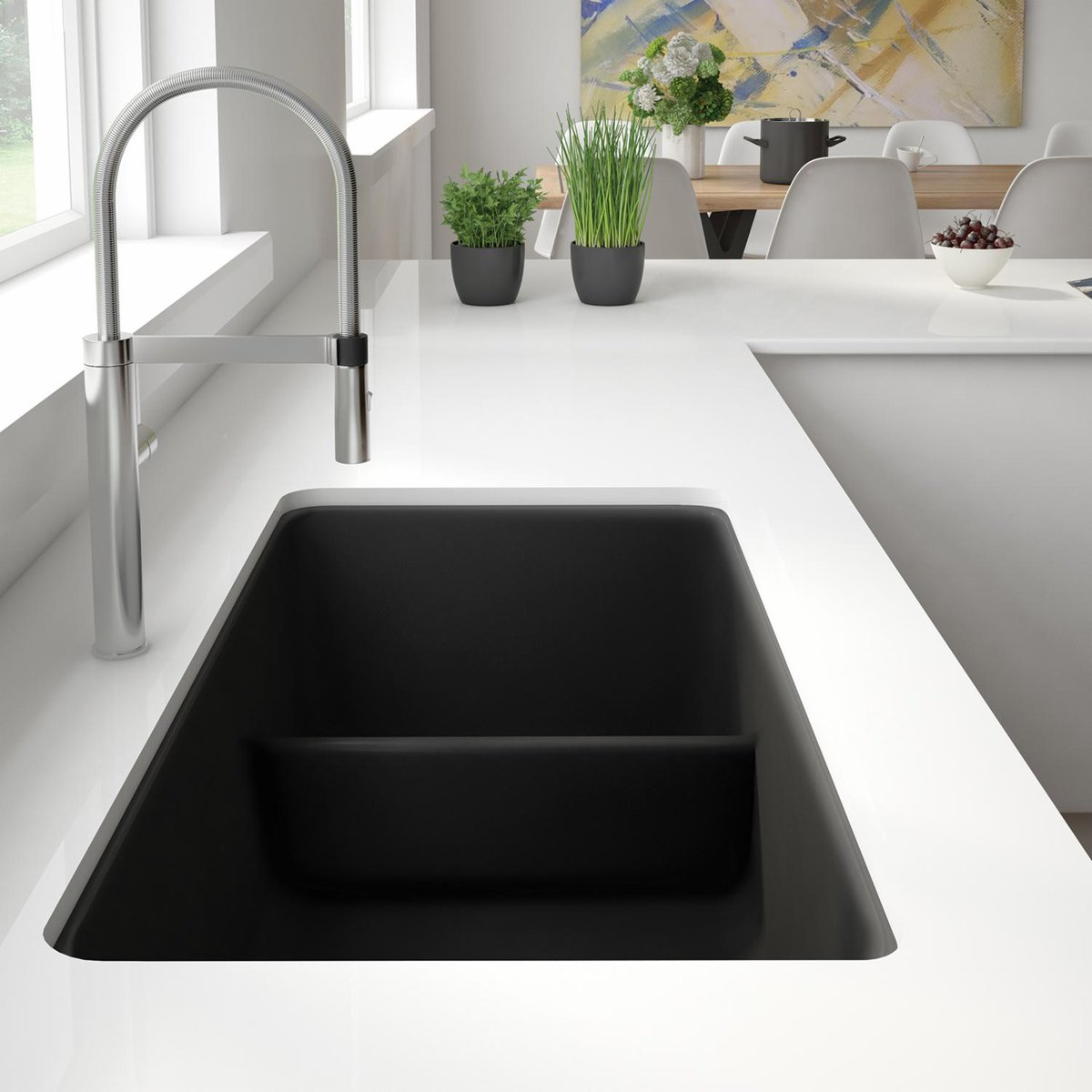Blog Post: BLANCO Expands The PRECIS #SILGRANIT #kitchen #sink Collection  With Two New Essential Sizes   The PRECIS 30u201d Single Bowl And PRECIS 1 3/4  Bowl ...