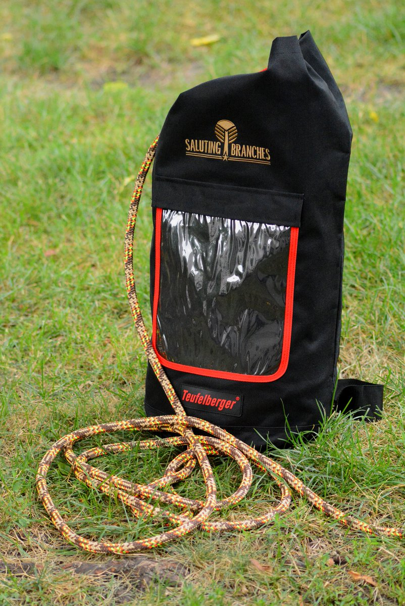 1c6facca269 Come on over to booth 744 and register to win a  salutingbranches Tachyon  rope by  Teufelberger and exclusive Saluting Branches bag - they re only  available ...
