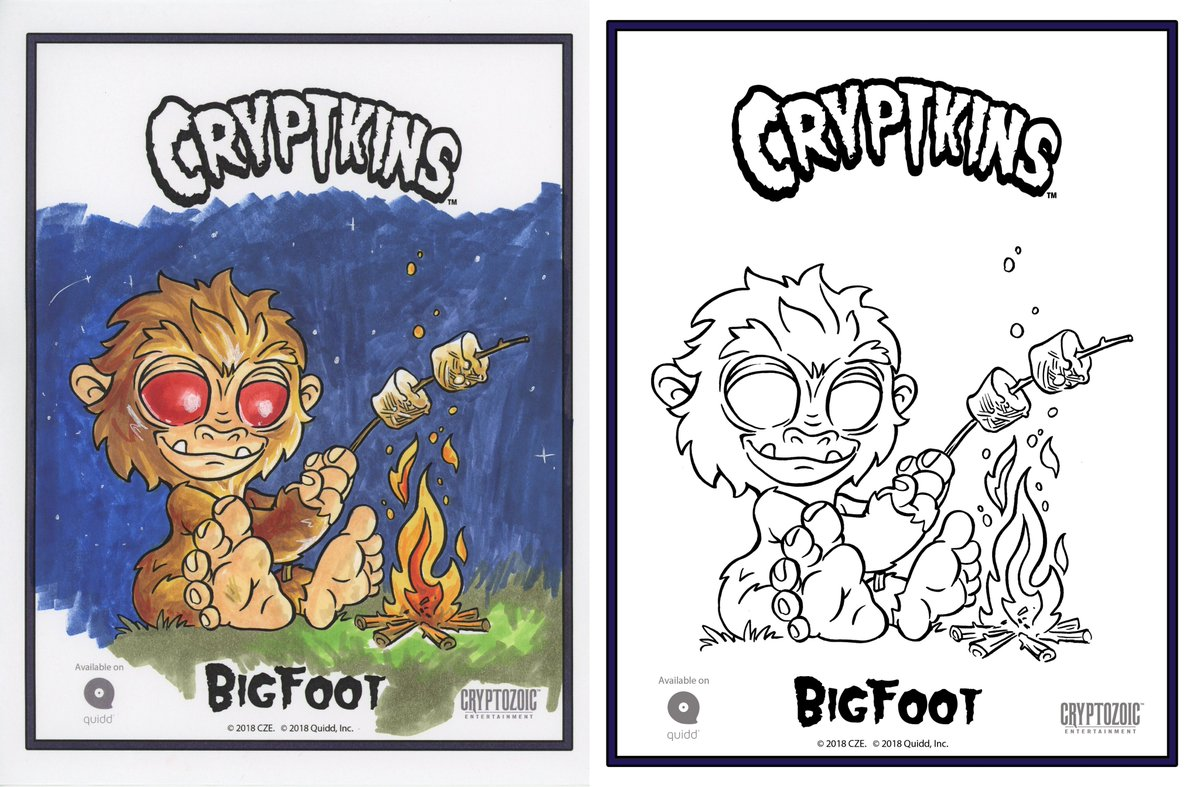 Cryptkins On Twitter Coloring Book Pages Are Available Now For FREE Download Share Your Colored Creations Using The Hashtag ColorMeCryptkins
