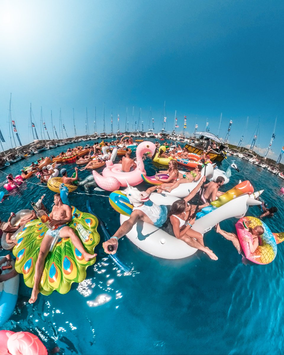 Oh you know, Just another Friday an Yacht week! 🦄😂 #GoPro