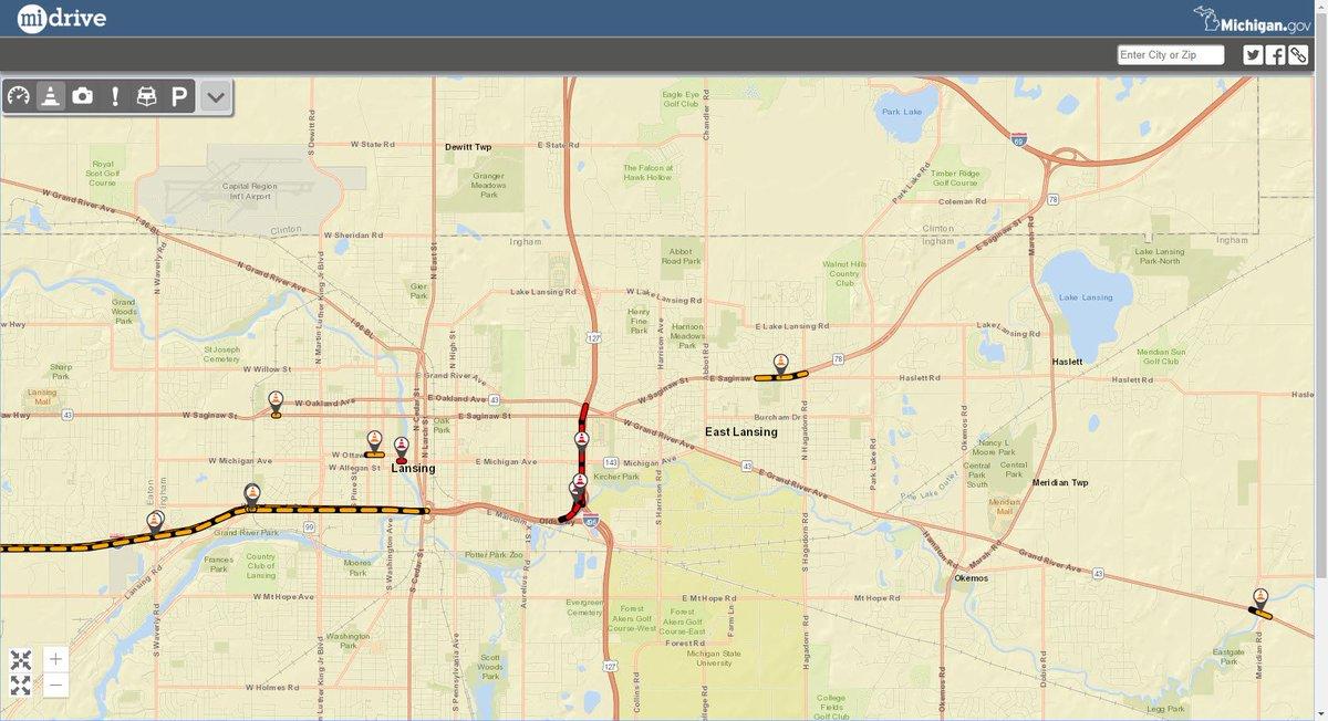 Michigan Dot On Twitter Reminder Us 127 And I 69 Bl Saginaw St - Us-127-michigan-map