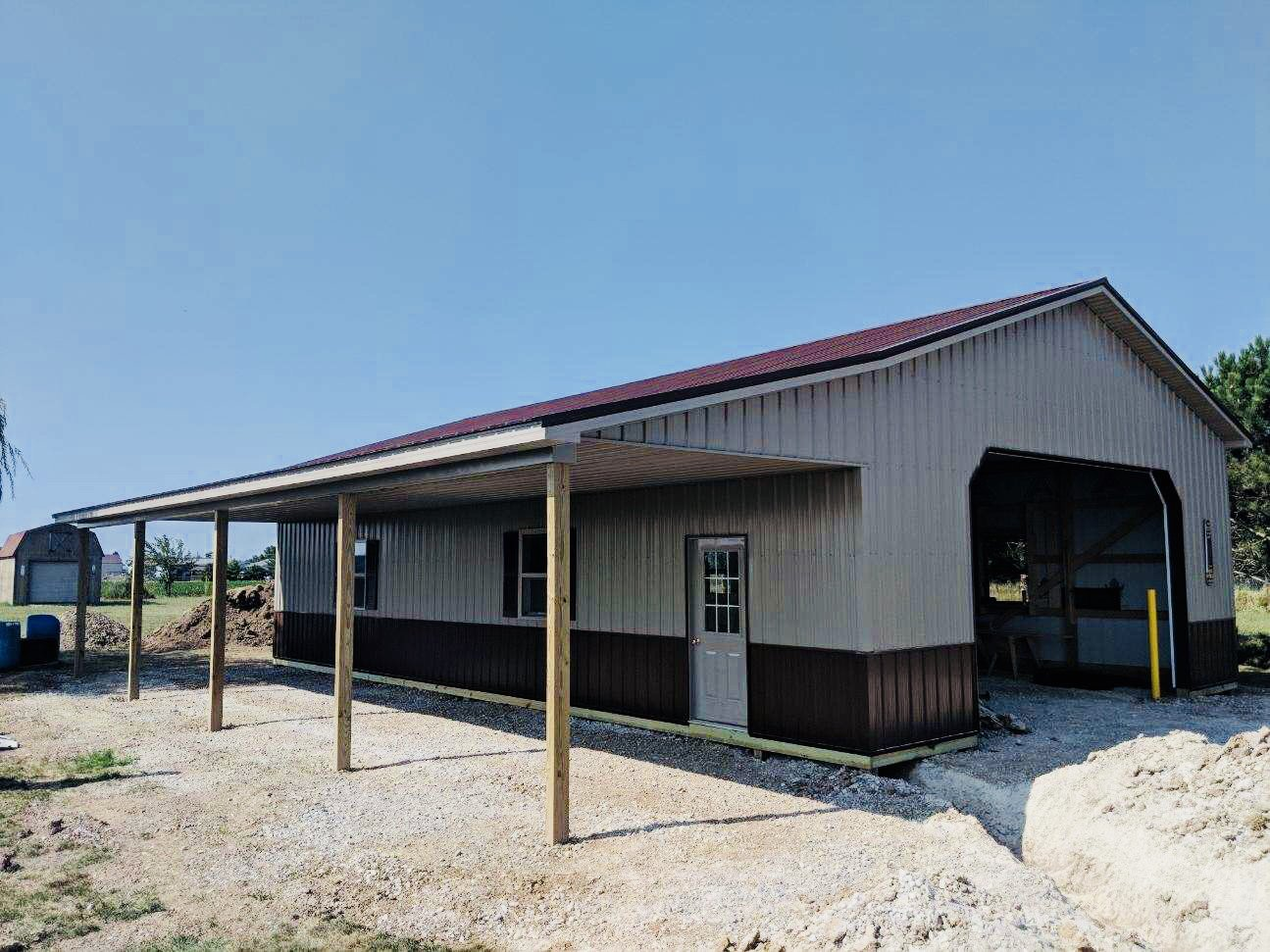 Attica Lumber on Twitter This pole barn 32x48 with 9