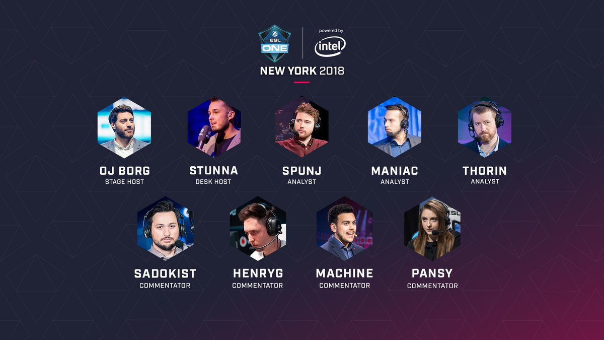 Thorin, SPUNJ и Maniac поработают аналитиками на ESL One New York 2018