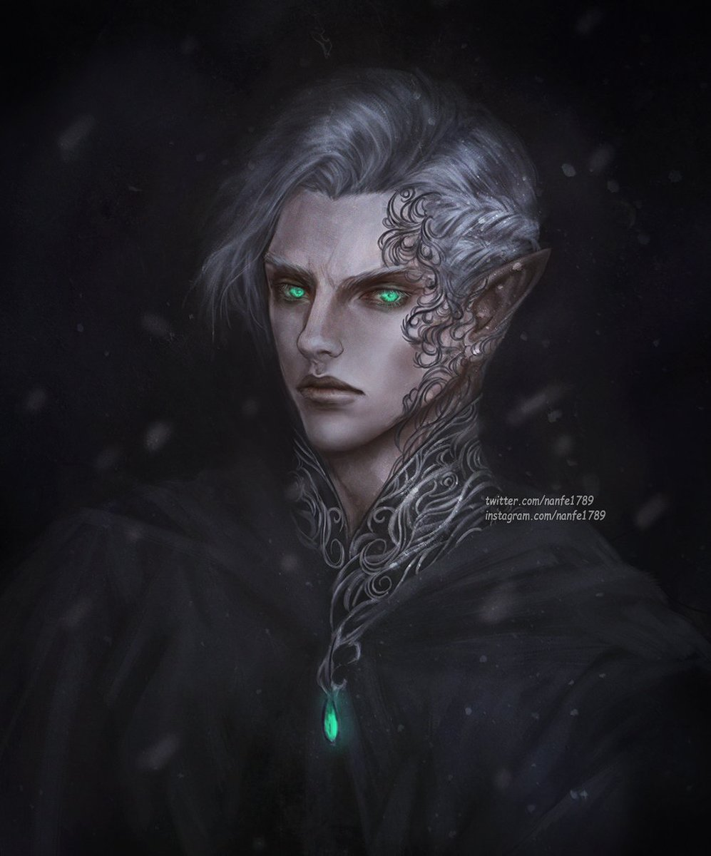 "Rowan Whitethorn (am I the only one who often mistake ""whitethorn"" with ""blackthorn?) I just wanted to paint some details so I finished him off. #nanfe #rowan #rowanwhitethorn #throneofglass #heiroffire #RowanWhitethornGalathynius #queenofshadows <br>http://pic.twitter.com/Wh1dQcX192"