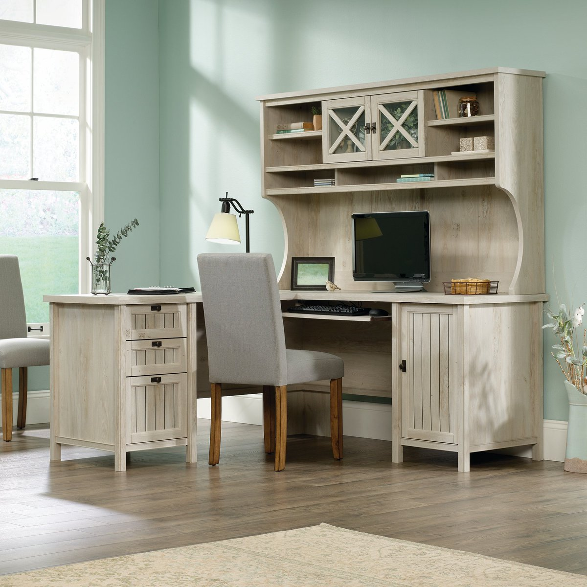 Your Home Office Https Www Rcwilley Furniture Desks 110768639 L Shaped Corner Computer Desk With Hutch Costa View Jsp