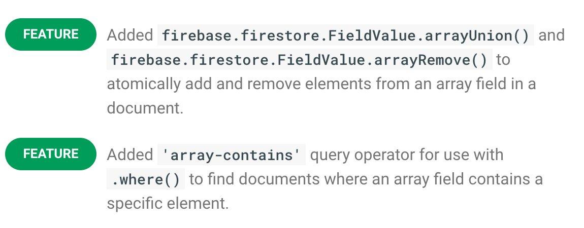 Firestore Array Remove