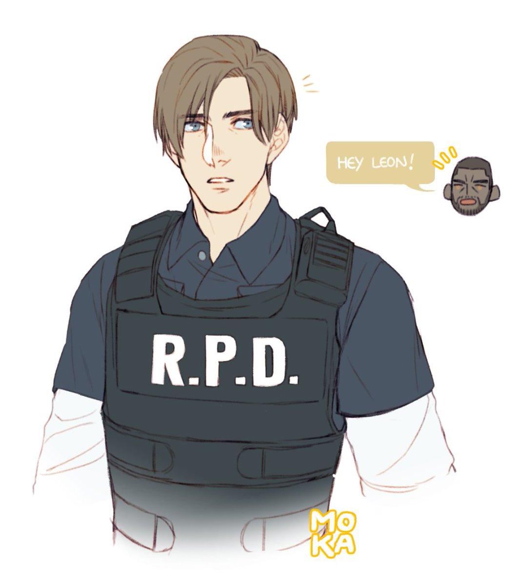 Moka ㅈ Comm Requests On Hold On Twitter Re2 Remake Leon Re2remake Residentevil Residentevil2 Capcom Leonkennedy Fanart