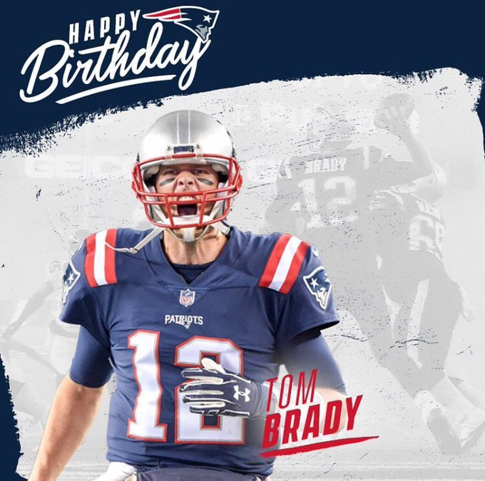 Happy Birthday Tom Brady. Only a true G O A T would have their b-day on Cheers