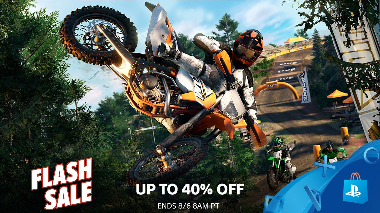 Save up to 40% at PS Store during this weekend's Flash Sale: https://t.co/onMHM9Qx58 https://t.co/aZIPB08rKS