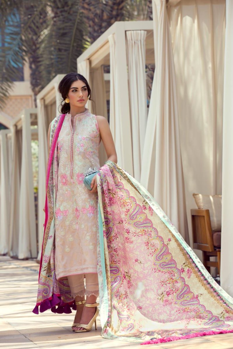 9d71c0adc3 Make an effortless style statement in #FarahTalibAziz #LuxeEidLawn.  Launching online tomorrow, August 2nd at online and in stores nation wide  on August 6th!