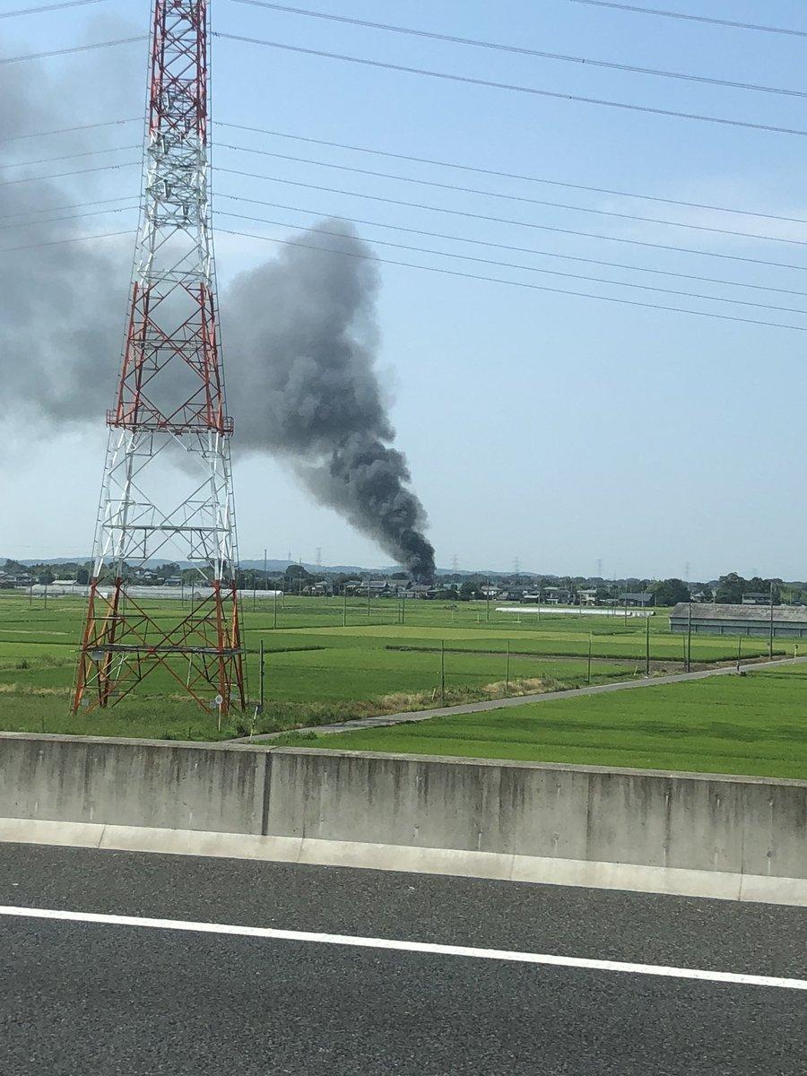 川島町上八ツ林で火事の現場の画像