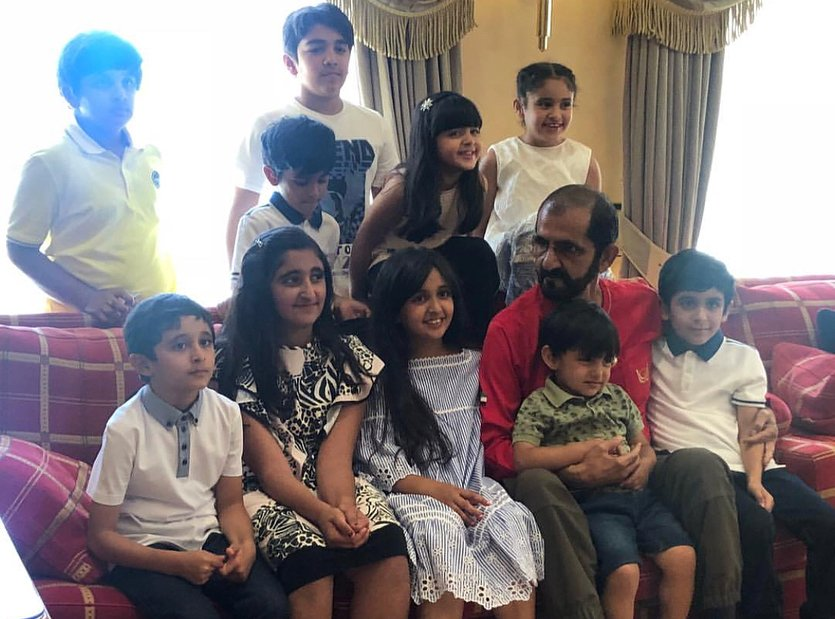 Toyeen B's World: PHOTOS of the Dubai King & his grand children are