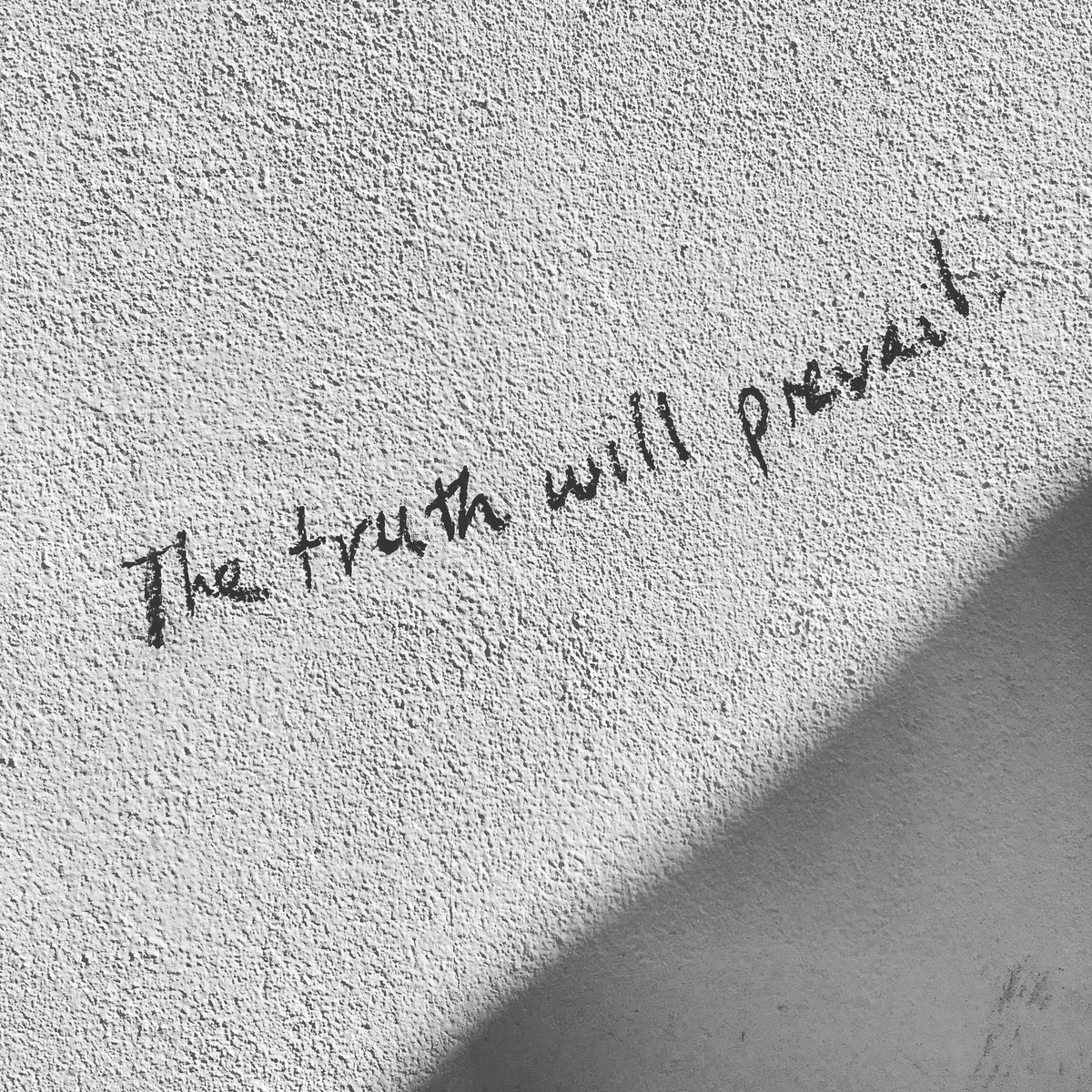 I have been reminded that a disturbing proportion of news material is based on hearsay and assumptions, not first person fact finding or research.  But I saw this reminder on a wall in my hood this morning ... #goodjournalismmatters #notyouropinion #truth