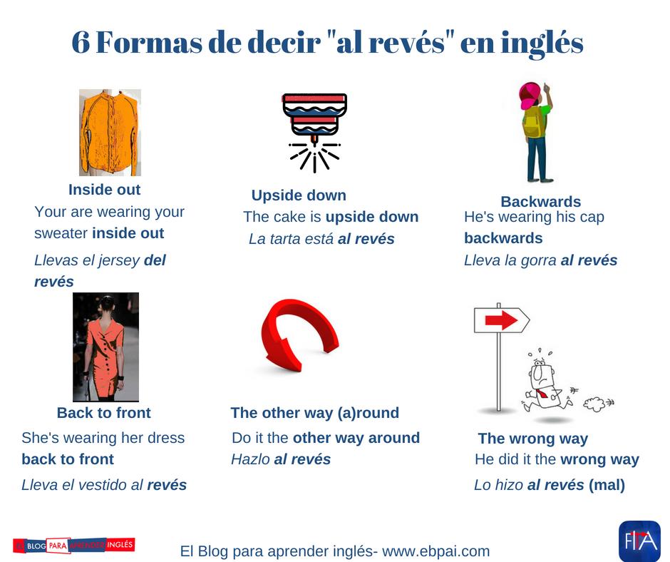 Monicatstocker On Twitter Cómo Se Dice Al Revés En Inglés
