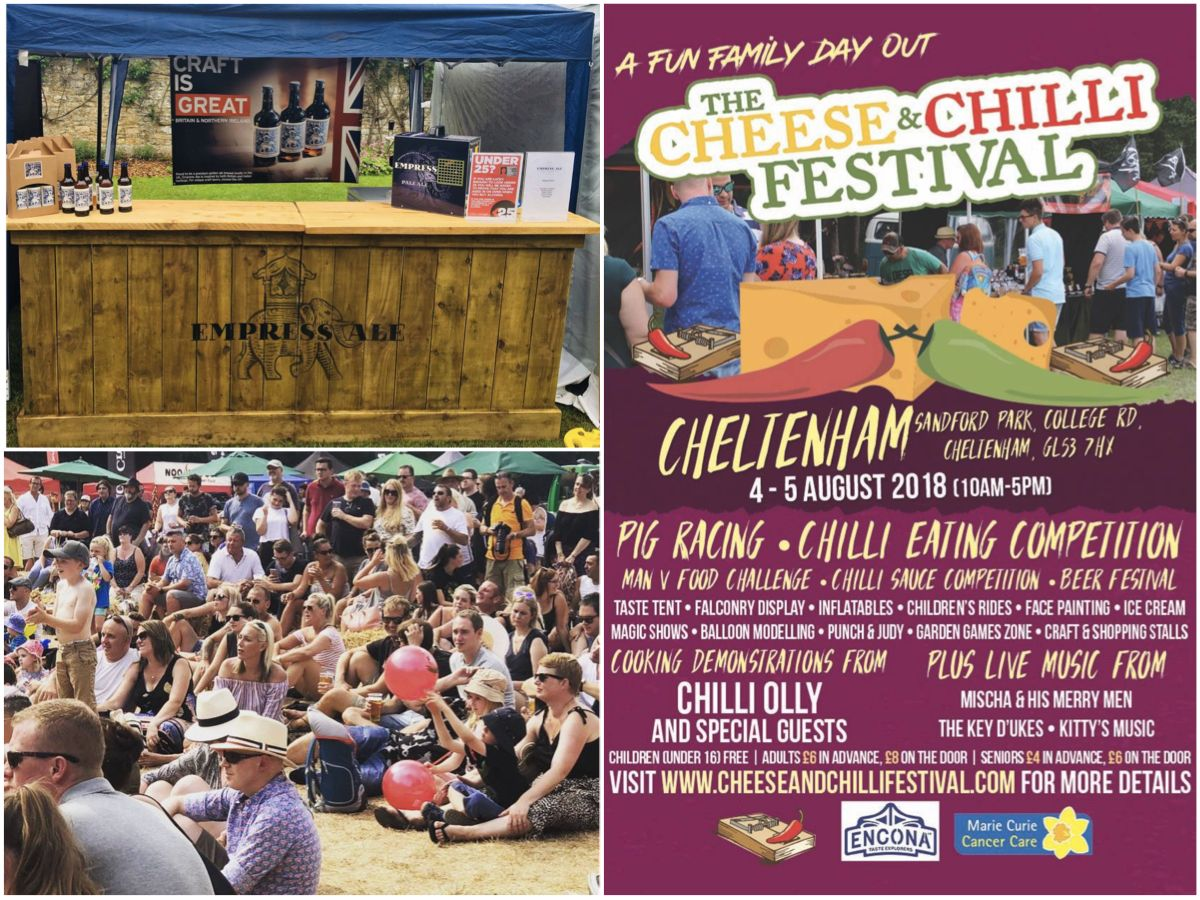 We're just putting the finishing touches to our stand here at @CheeseChillFest on Sandford Park in #Cheltenham. Looking forward to what promises to be an awesome 2 days.  #Beer, #food - sounds like our kind of weekend!  See you soon! @ChilliOlly #cheeseandchillifestival <br>http://pic.twitter.com/0Pi9hWgyTJ