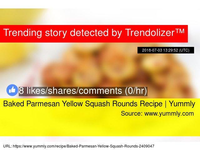 Baked Parmesan Yellow Squash Rounds Recipe   Yummly https://t.co/iV8Rrls2Mj https://t.co/3q1EOSOsOZ