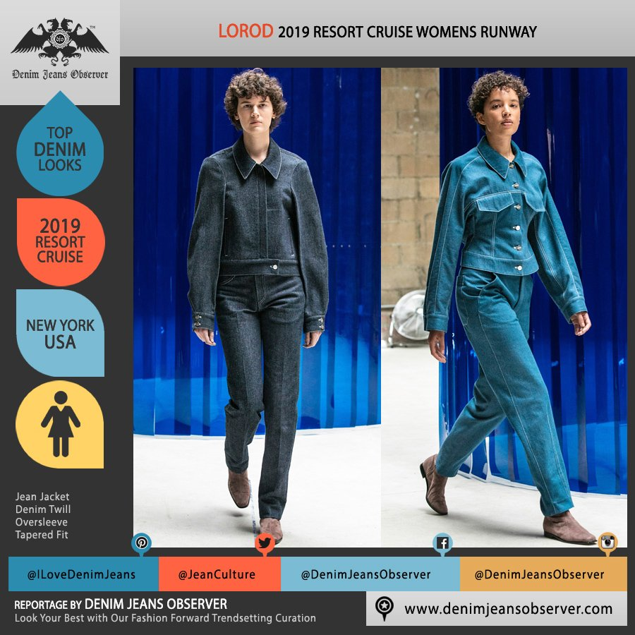5257aaac Lorod 2019 Resort Cruise Pre-Spring Womens Runway Catwalk Looks Collection  - Denim Twill Jean