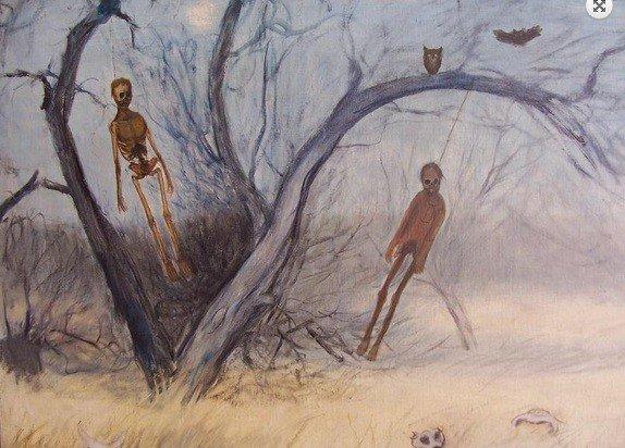 "Horror Losers on Twitter: ""La tétrica serie de pinturas de ahorcados del  artista mexicano Francisco Goitia (1882-1960)… """