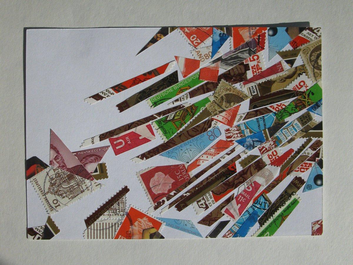 Коллаж из марок или открыток