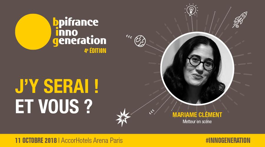 #Entrepreneurs de tous le pays, le 11 octobre 2018, UNISSEZ-VOUS ! Pour vous inspirer, des tops speakers comme Mariame Clément, Metteur en scène,  seront avec nous à l\