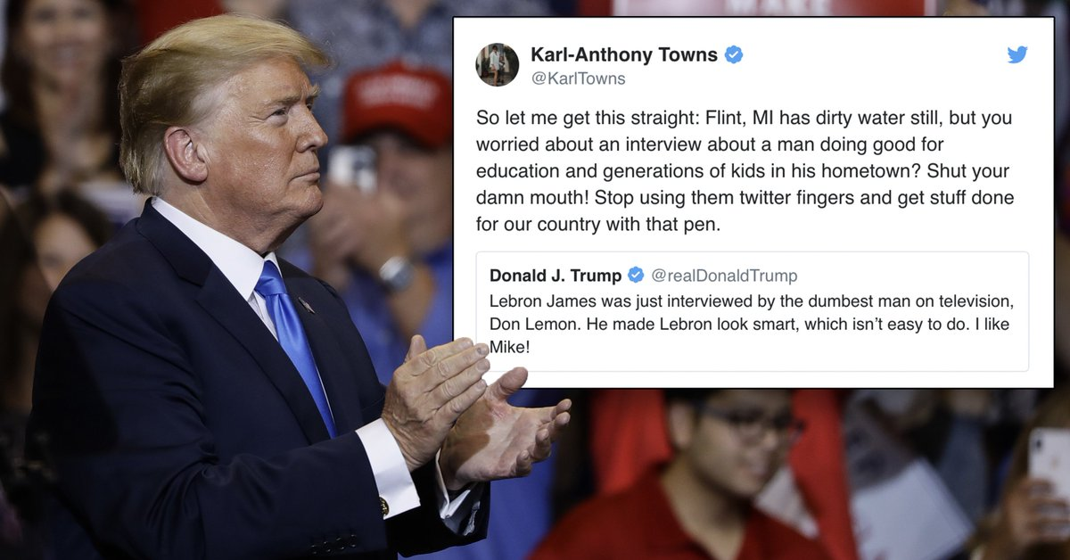 Donald Trumps Attack On Education Is >> Yahoo Sports Nba On Twitter Nba Stars Like Karl Anthony Towns And