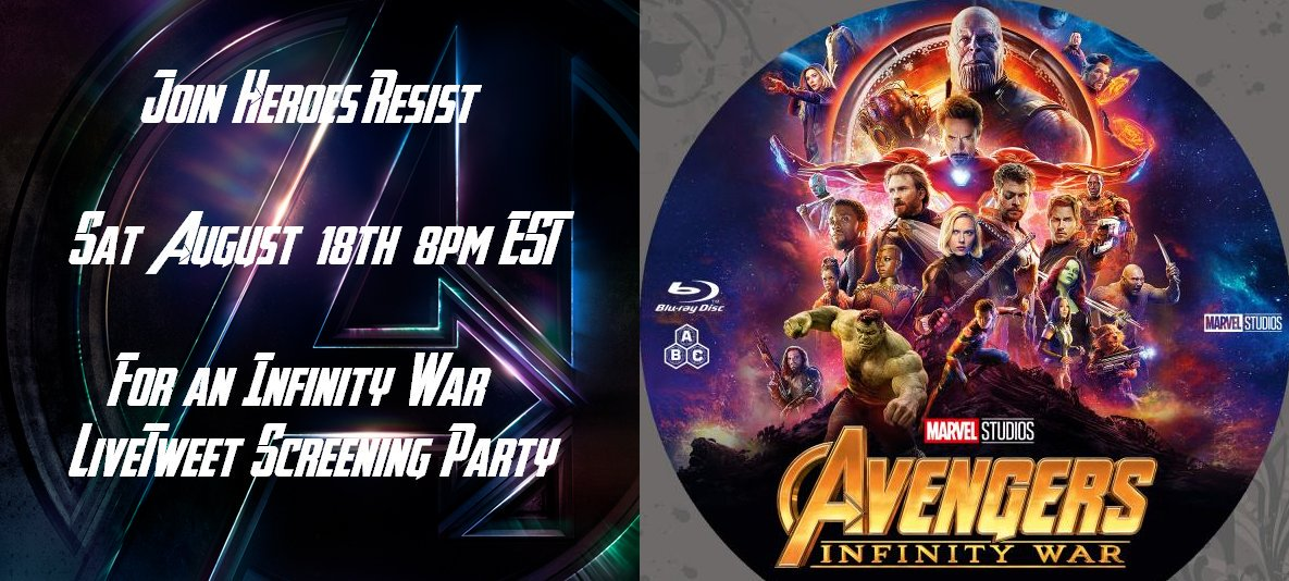 #InfinityWar is already out on digital& the bluray/DVD release is coming Tues August 14th. We thought we'd have a little fun &stress relief by throwing a #livetweetparty Keep an eye out for more details next week!