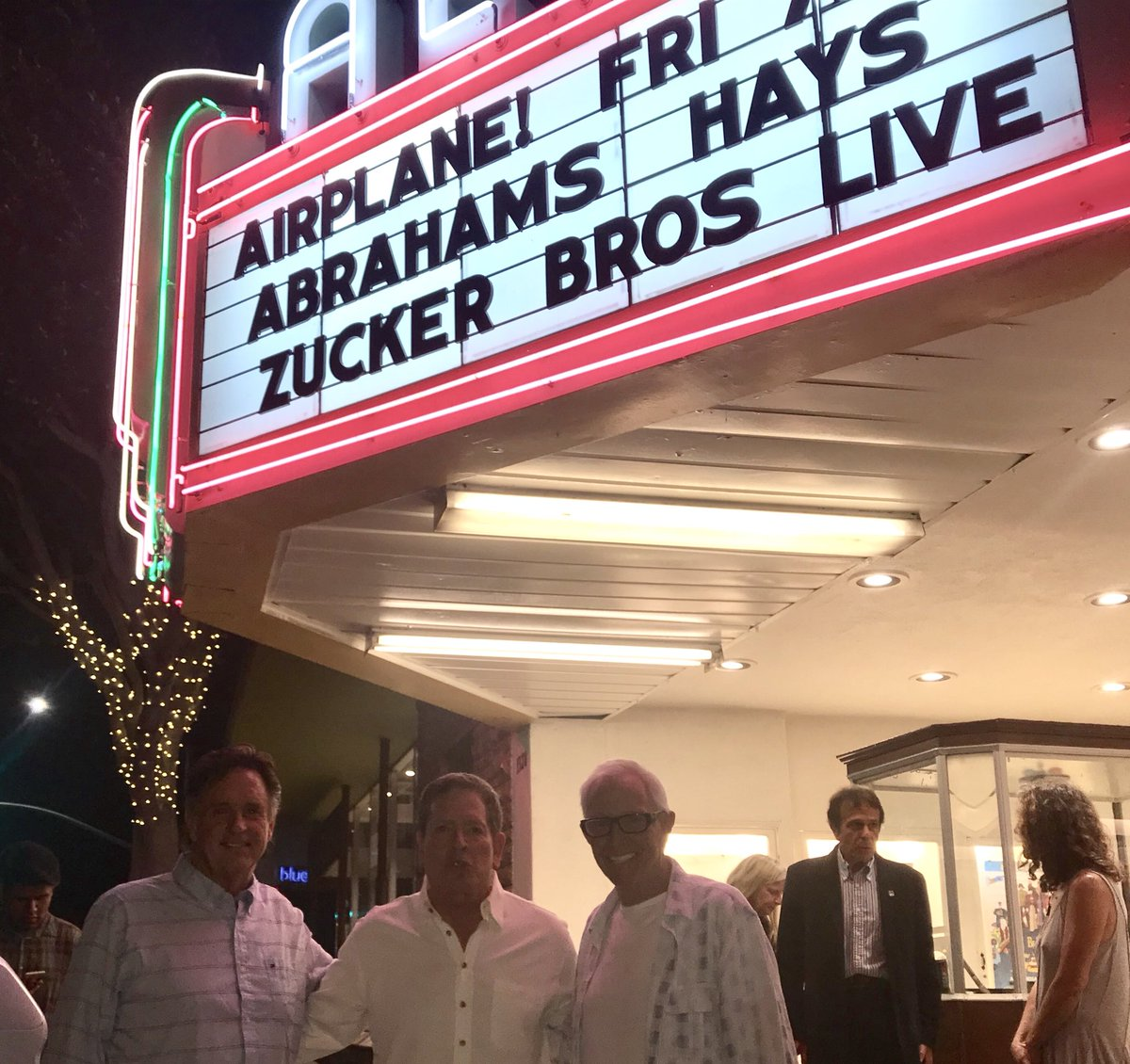 Robert Hays On Twitter Great Evening At The Wonderful Aero Theater In Santa Monica With David Zucker And Jim Abrahams Fun Q A Afterwards