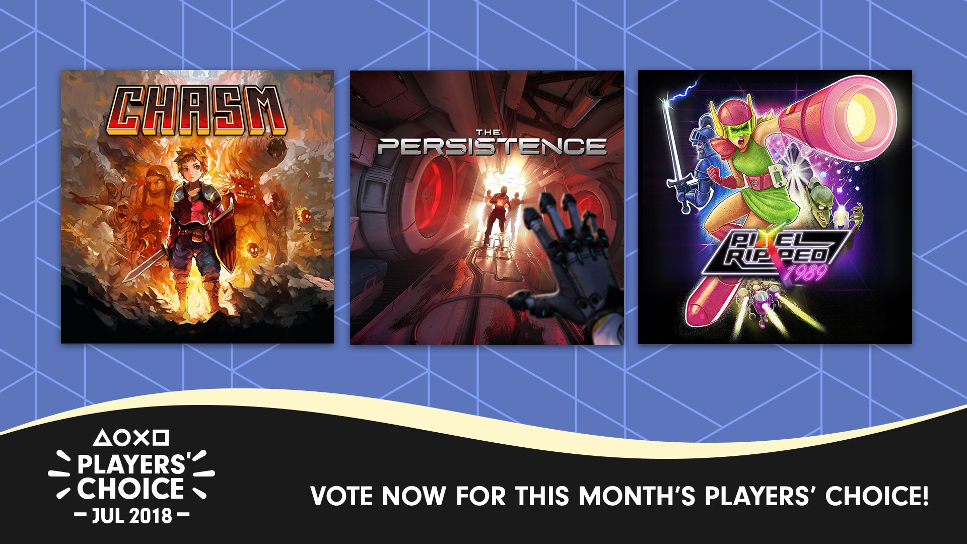 What was last month's best new game? Cast your vote for July's Players' Choice pick: https://t.co/roSzWPVfsg https://t.co/YQfUCyCMbY