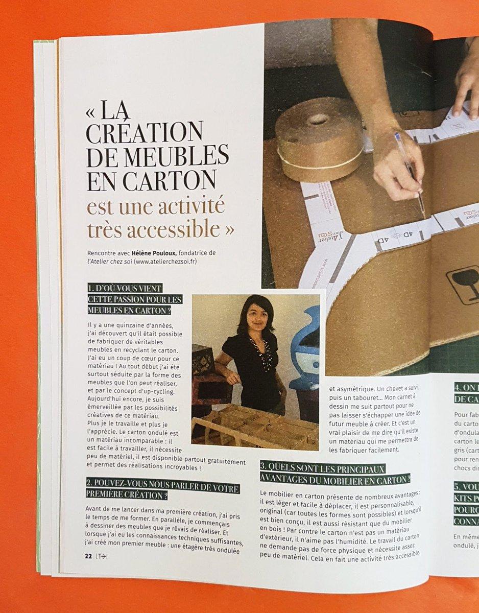 Petite Interview De Latelier Chez Soi Dans Le Joli Magazine Diy La Tribu Des Idees Hors Serie  Recup Merci La Tribu Des Idees De Parler De Nous