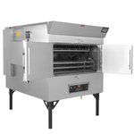 Cooking capacity, price point and footprint make the SPK-500 our most popular rotisserie smoker.  This model has enough capacity to cook 60 pork butts in one cook cycle. #cookingwithpride